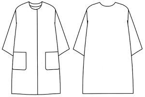 画像2: ノーカラーコート型紙