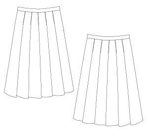 画像2: ソフトプリーツスカート型紙