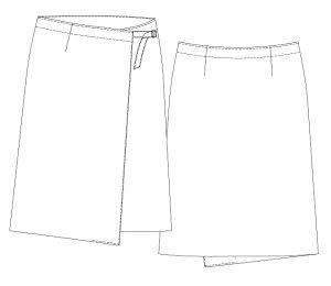 画像2: ミディアム丈ラップスカート型紙