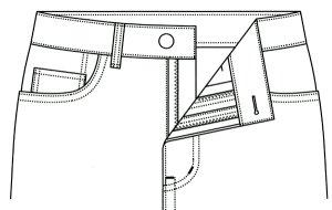 画像3: 【メンズ】ストレートジーンズ型紙(前ファスナー)