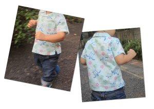 画像3: 【子供服】オープンカラーシャツ(アロハシャツ)型紙