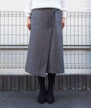 画像1: ミディアム丈ラップスカート型紙