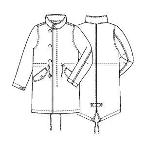 画像1: モッズコート型紙(レディース)・衿オプションパーツ (スタンドカラー)