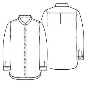 画像2: スタンドカラーシャツ型紙