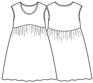 画像2: タンクドレス型紙