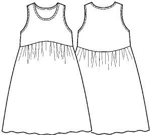 画像3: タンクドレス型紙