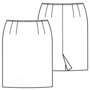 画像2: タイトスカート型紙
