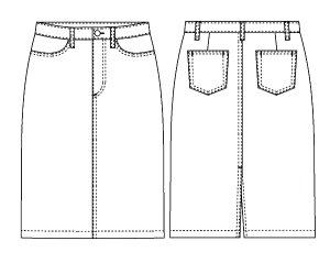 画像2: デニムスカート型紙