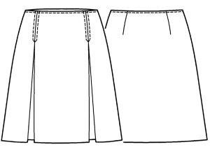 画像2: ボックスプリーツスカート型紙