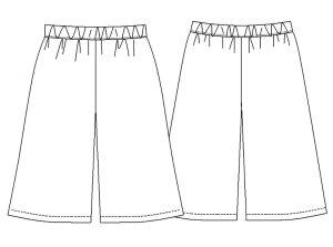 画像2: ガウチョパンツ型紙(ペチコート型紙付き)