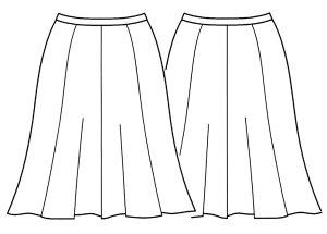 画像2: 8枚接ぎフレアスカート型紙(膝丈)