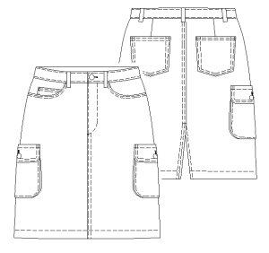 画像2: カーゴスカート型紙