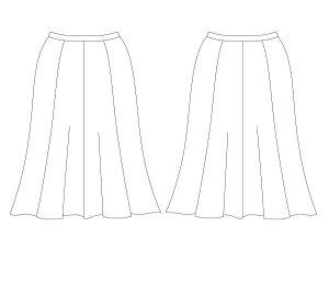 画像2: 8枚接ぎフレアスカート型紙(膝下丈)
