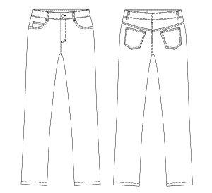 画像2: ストレートジーンズ型紙