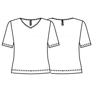 画像2: VネックTシャツ型紙