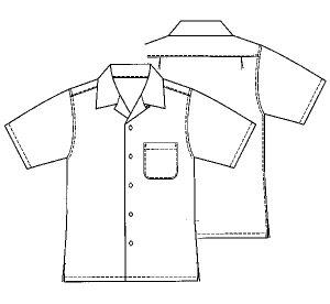 画像2: 【メンズ】4L,5Lサイズ オープンカラーシャツ(アロハシャツ)型紙