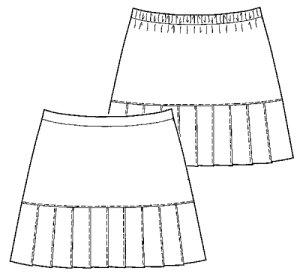 画像2: 【子供服】切り替えプリーツスカート型紙