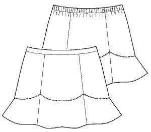 画像2: 【子供服】切り替えフレアースカート型紙