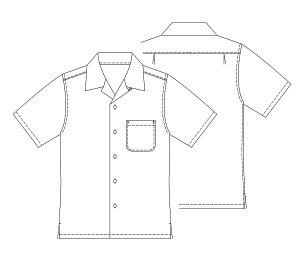 画像2: 【子供服】オープンカラーシャツ(アロハシャツ)型紙