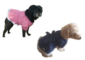 画像3: 犬服 チュニックワンピース型紙(小型犬から中型犬用)