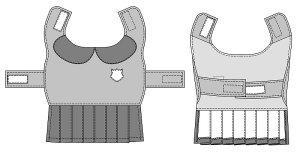 画像3: 犬服 プリーツワンピースコート型紙 大型犬用