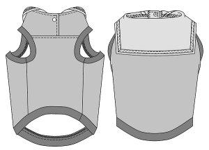 画像4: 犬服 セーラーカラータンクトップ型紙 小型犬〜中型犬用