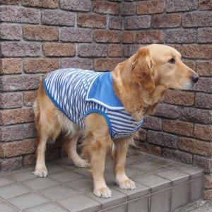 画像3: 犬服 セーラーカラータンクトップ型紙 大型犬用