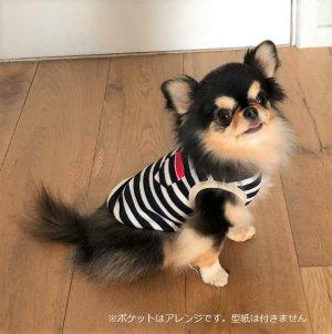 画像2: 犬服 タンクトップ型紙 小型犬〜中型犬用
