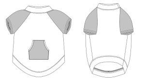 画像3: 【犬服】ラグランTシャツ型紙(大型犬用)