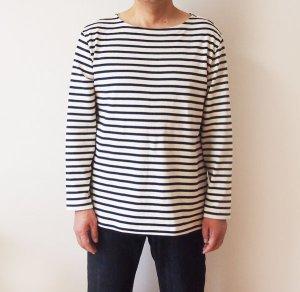 画像1: 【メンズ】ボートネックTシャツ型紙(半袖・長袖)