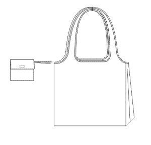 画像2: エコバッグ型紙(折りたたみ収納付き)