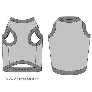 画像3: 犬服 タンクトップ型紙(リブ仕様) 大型犬用