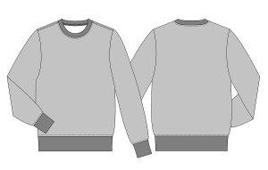 画像2: 【メンズ】スウェットシャツ型紙