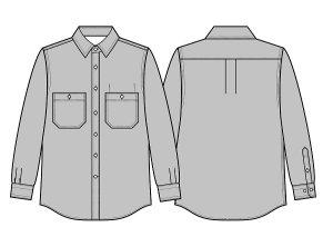 画像2: 【メンズ】デニムシャツ型紙