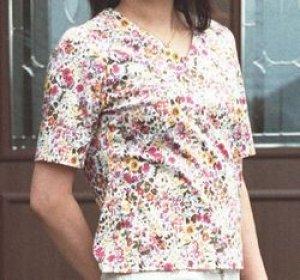 画像1: VネックTシャツ型紙